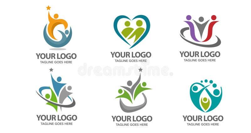 Логотип вектора людей иллюстрация штока