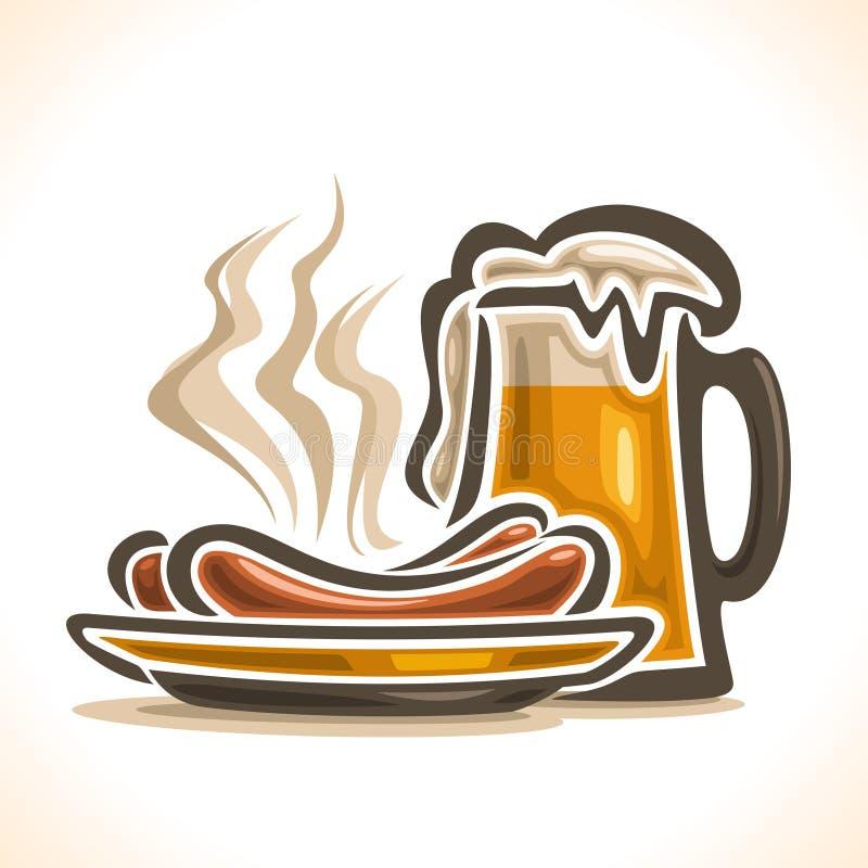 Логотип вектора для пива иллюстрация вектора