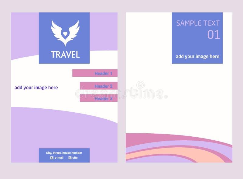 Логотип вектора для туристского отключения Цвет подгоняет небо Рогулька с ha иллюстрация вектора