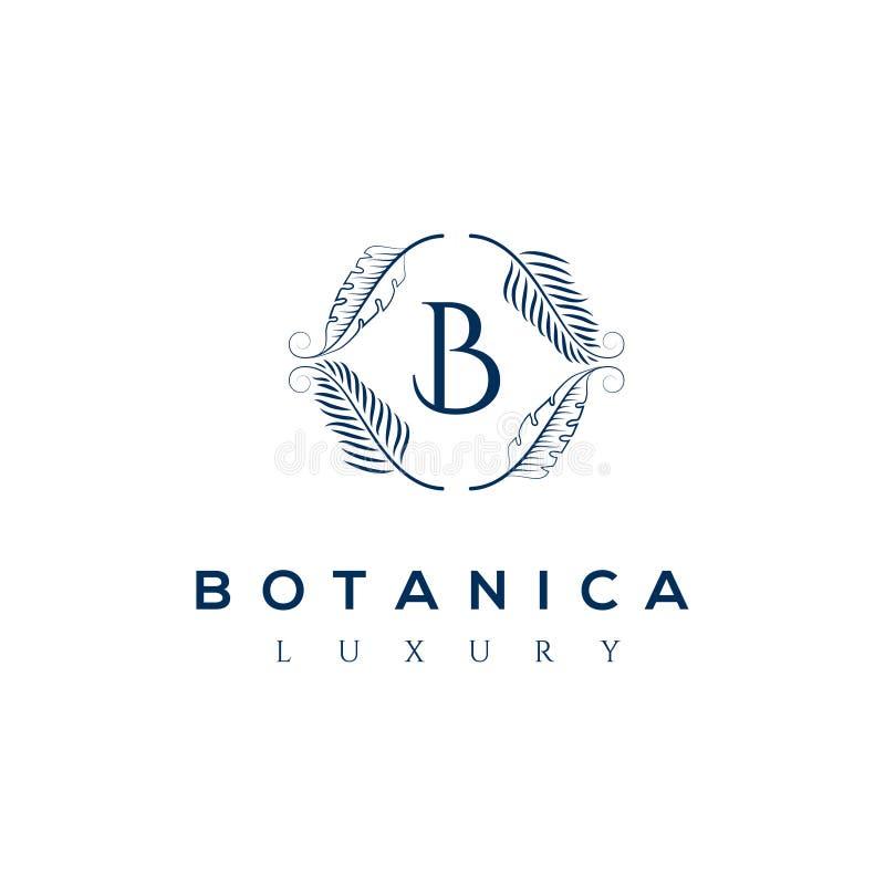 Логотип вектора Botanics Био эмблема косметик Органический знак продукта листья иллюстрации архива ai имеющиеся иллюстрация вектора