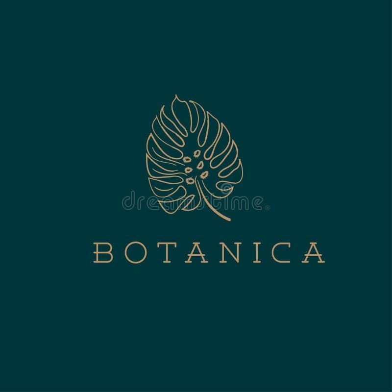 Логотип вектора Botanics Био эмблема косметик Органический знак продукта листья иллюстрации архива ai имеющиеся бесплатная иллюстрация