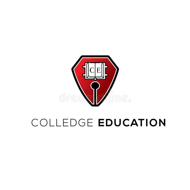 Логотип вектора Colledge Логотип образования Значок школы Эмблема Edducation бесплатная иллюстрация