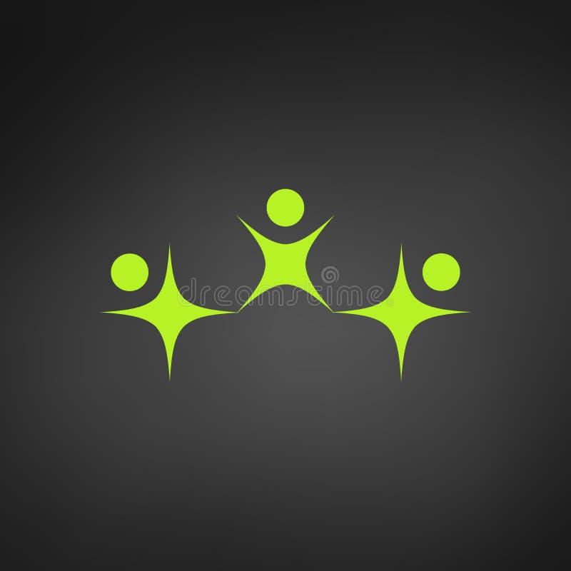 Логотип взрослого и ребенка Семья или счастливые люди Приколы люди 3 Значок для мобильных применений люди 3 иллюстрации красивейш бесплатная иллюстрация