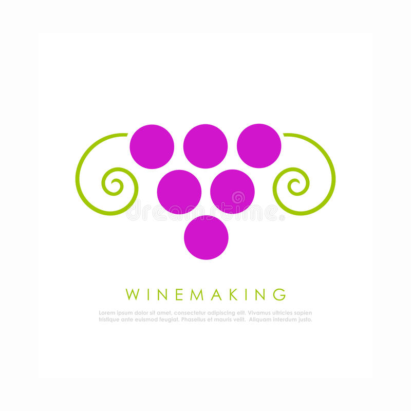 Логотип вина иллюстрация вектора