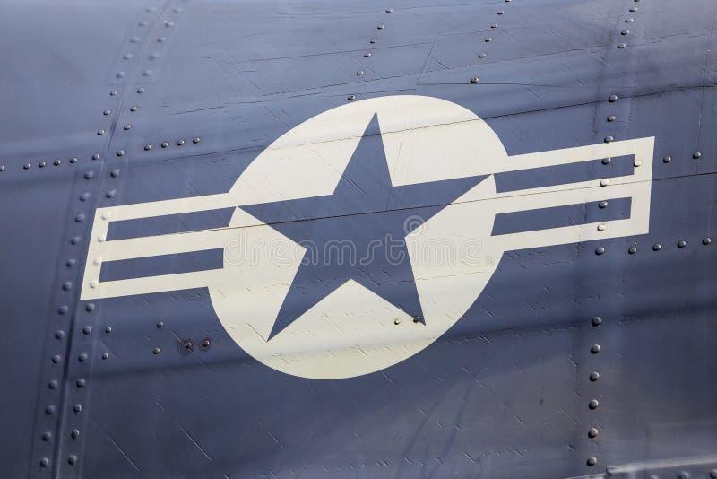 Логотип военновоздушной силы Соединенных Штатов стоковые изображения
