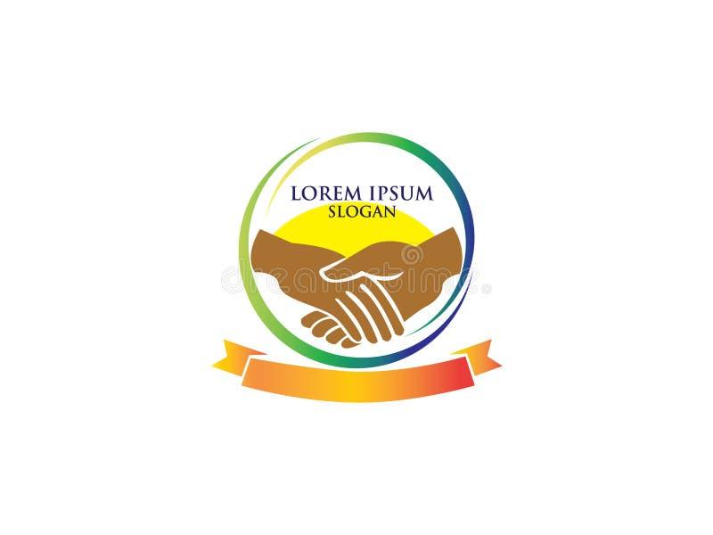 Логотип воспроизведения команд Знак сообщества Символ единства Персонал компании Общественная организация Хорошие отношения, колл иллюстрация штока