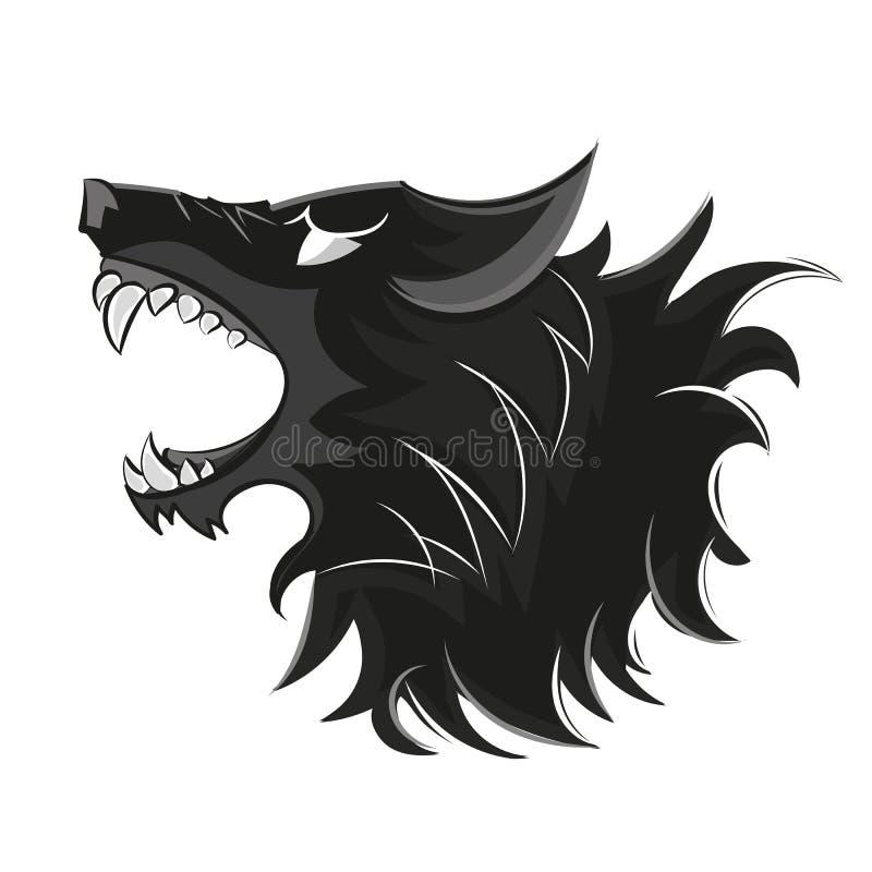 Логотип волка головной стоковые изображения