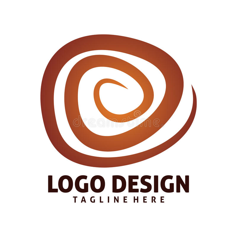 Логотип волны круга иллюстрация штока
