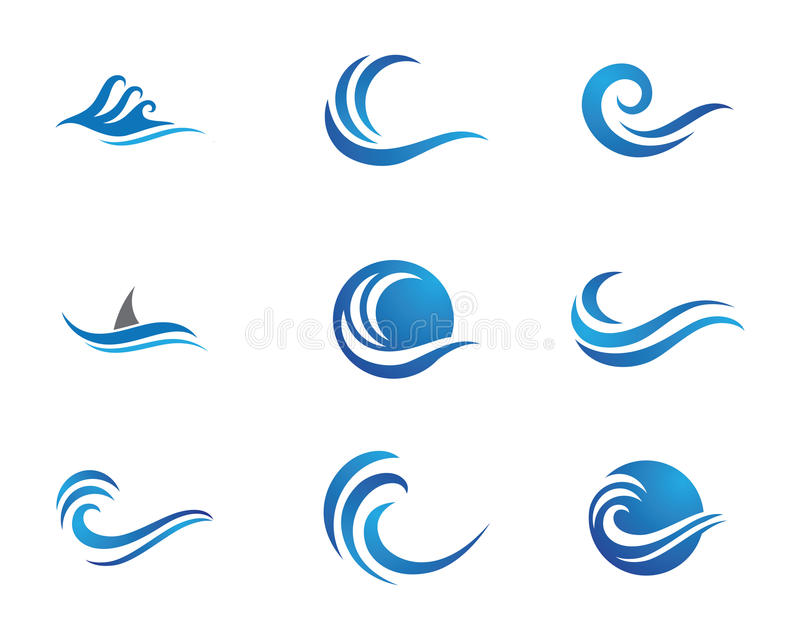 Логотип волны пляжа океана