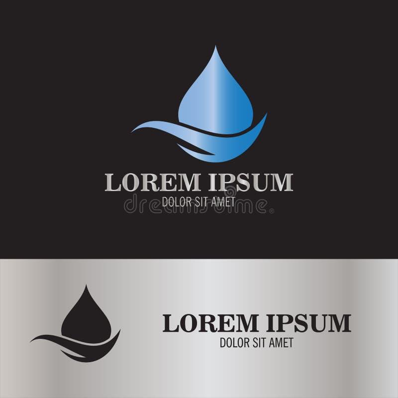 Логотип воды падения иллюстрация штока