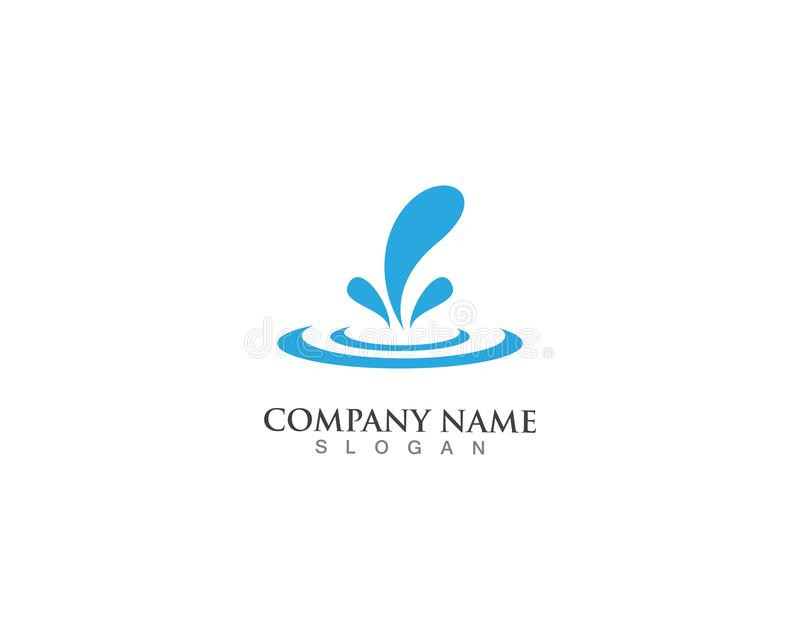 логотип выплеска волны и значок иллюстрации вектора иллюстрация вектора