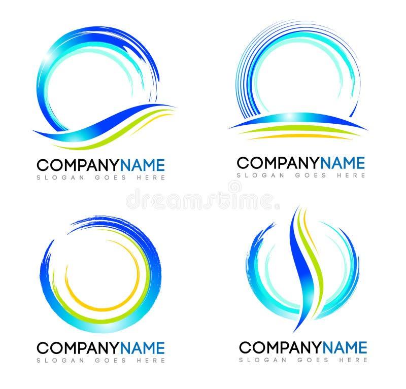 Логотип выплеска воды иллюстрация штока