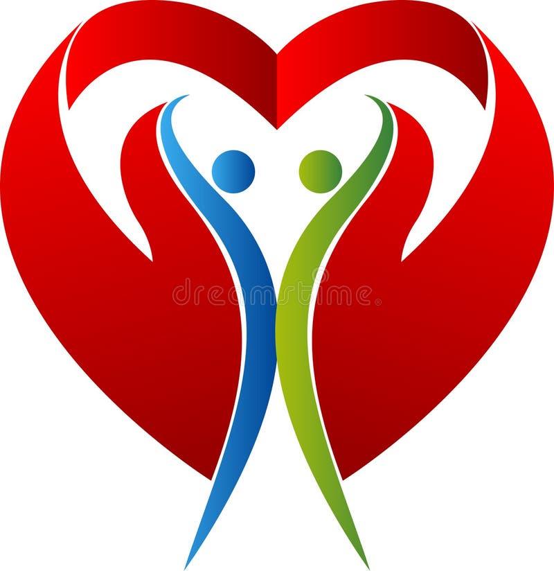 Логотип влюбленности пар иллюстрация вектора