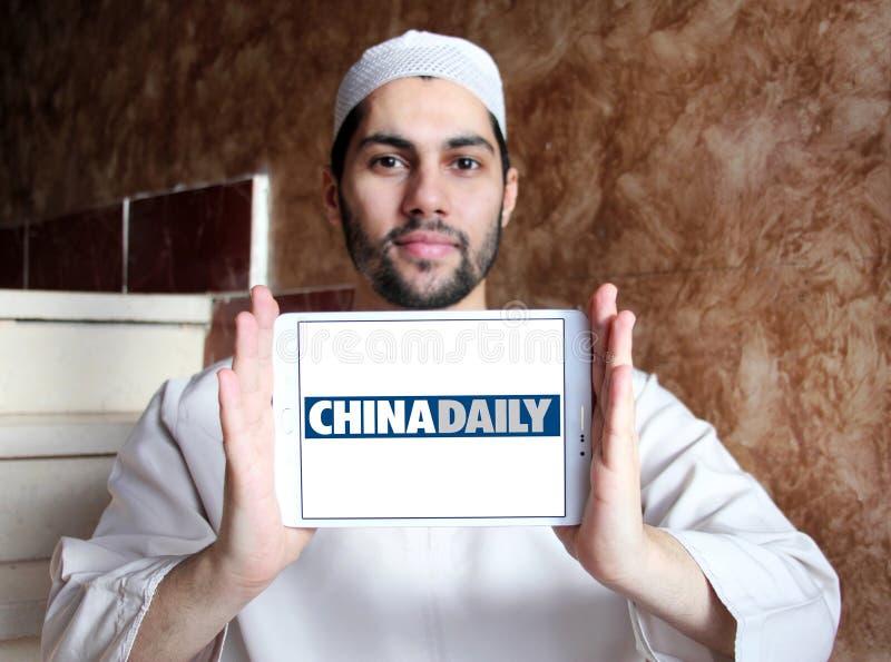 Логотип газеты газеты Чайна Дэйли стоковые изображения