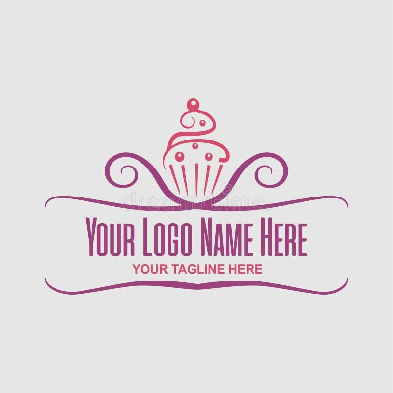 Логотип года сбора винограда торта стоковое изображение