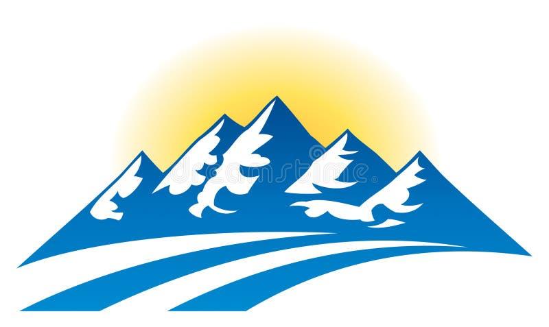 Логотип горной цепи иллюстрация вектора