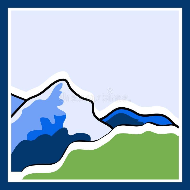 Логотип горы иллюстрация штока