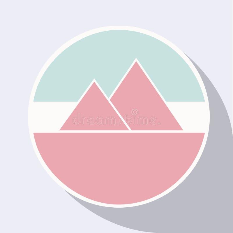 Логотип горы стоковое фото rf
