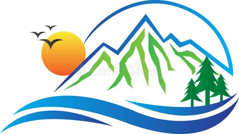 Логотип горы иллюстрация вектора