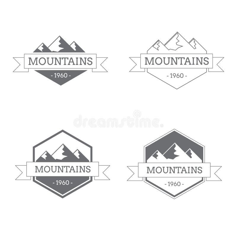 Логотип года сбора винограда гор стоковые фотографии rf