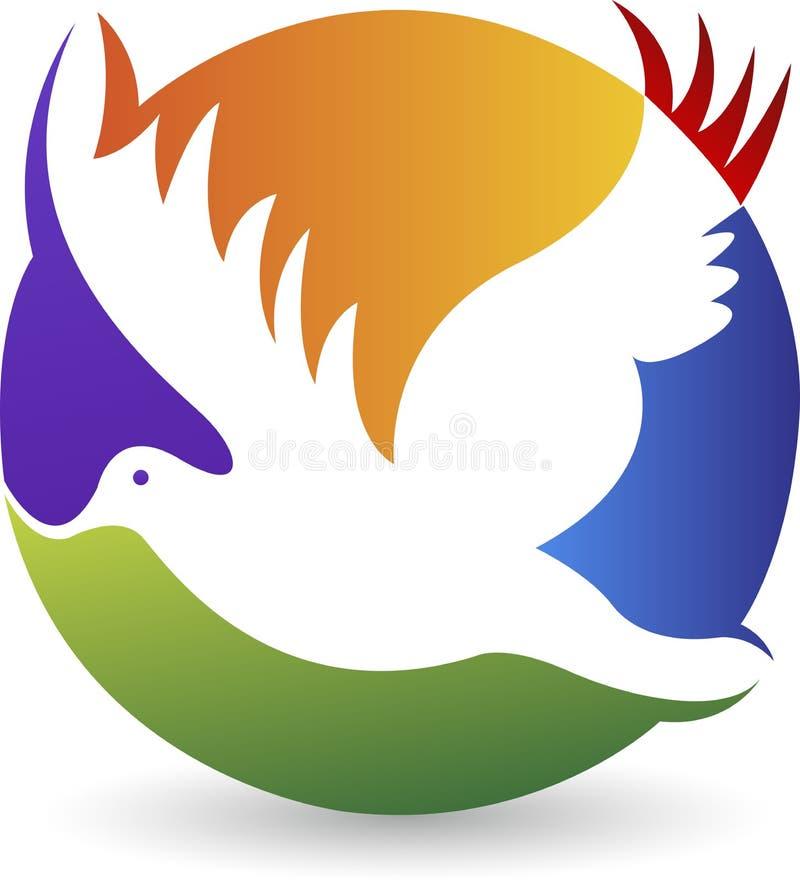 Логотип голубя иллюстрация штока