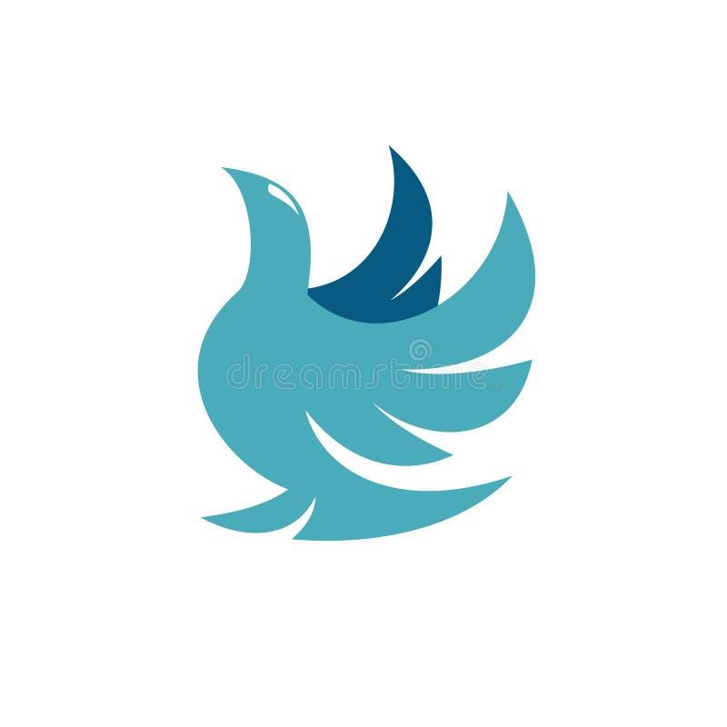 Логотип голубя иллюстрация вектора