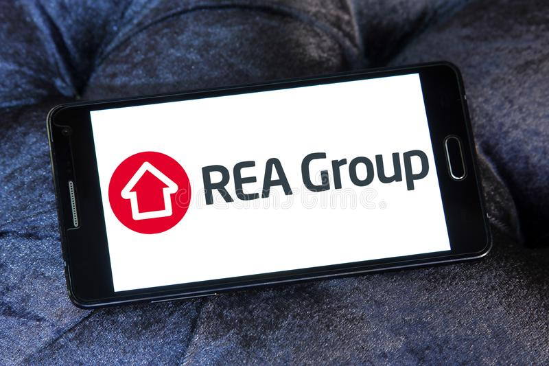 Логотип группы REA стоковое фото rf