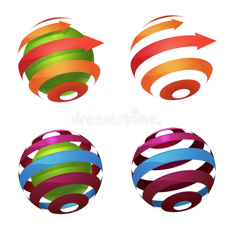 Логотип глобуса сферы иллюстрация вектора
