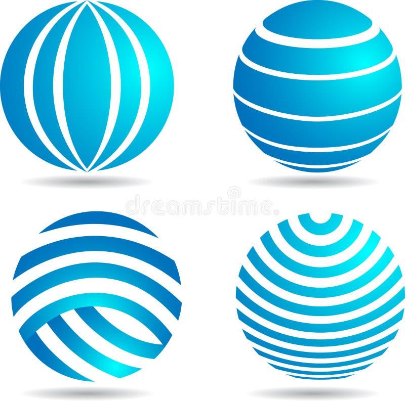 Логотип глобуса иллюстрация вектора
