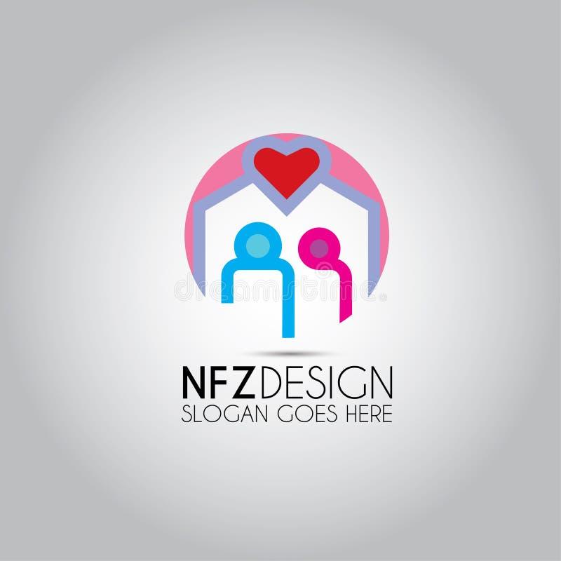 Логотип данным по пар сердца иллюстрация штока