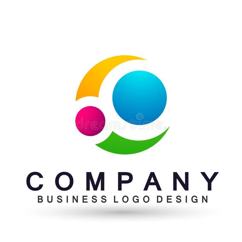 Логотип дела абстрактного круга форменный, соединение на корпоративном инвестирует дизайн логотипа дела Финансовые инвестиции на  иллюстрация штока