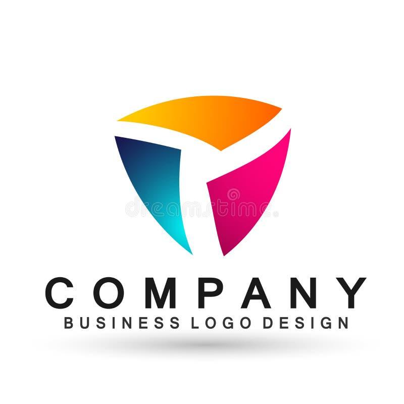 Логотип дела абстрактного треугольника форменный, соединение на корпоративном инвестирует дизайн логотипа дела Финансовые инвести бесплатная иллюстрация