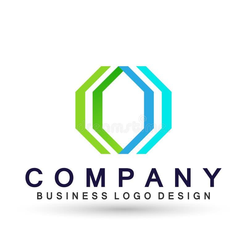 Логотип дела абстрактного шестиугольника форменный, соединение на корпоративном инвестирует дизайн логотипа дела Финансовые инвес бесплатная иллюстрация