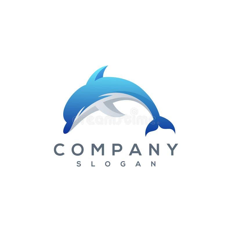 Логотип дельфина иллюстрация вектора