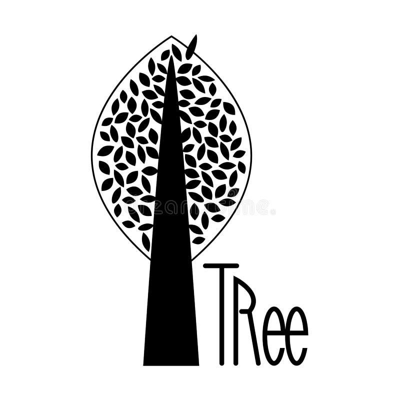 Логотип дерева осени изолированный на белизне иллюстрация вектора