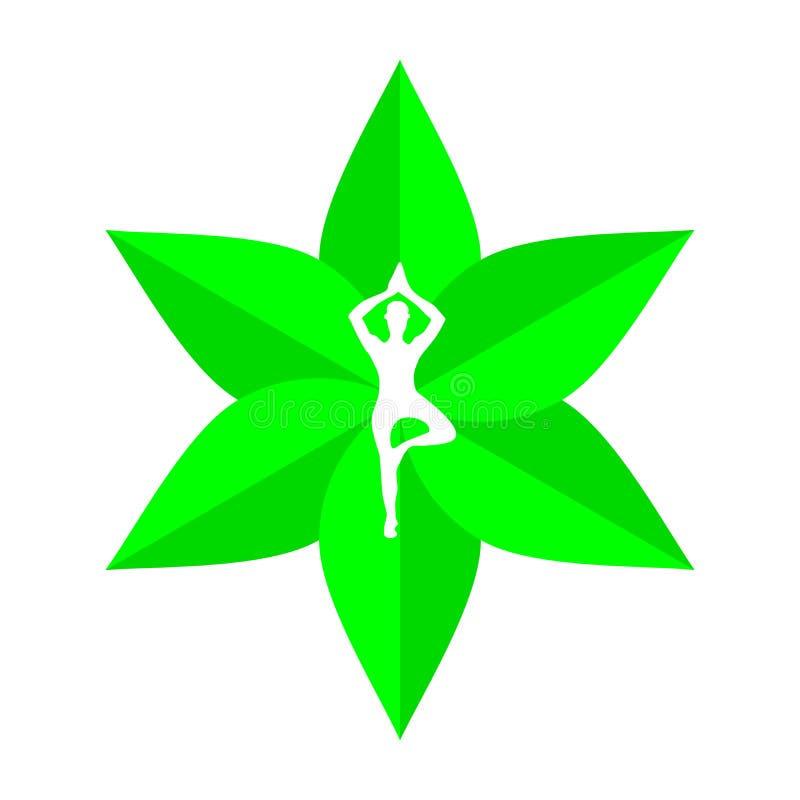Логотип Дзэн йоги иллюстрация штока