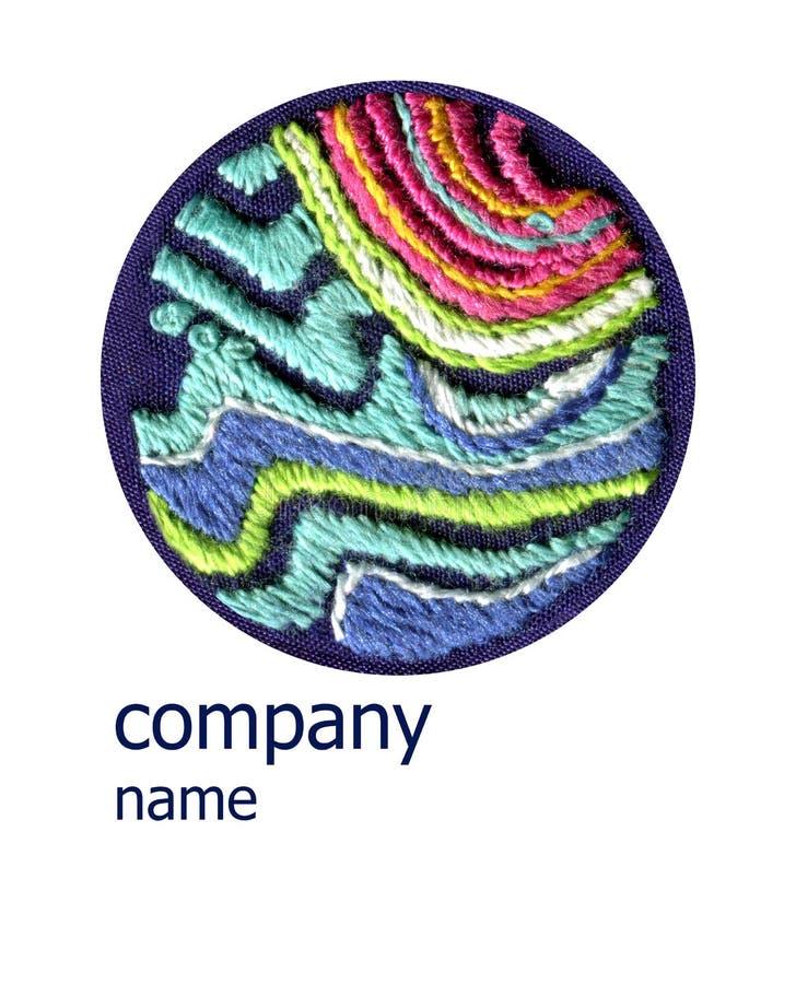 Логотип дизайна для handmade текстуры вышивки бесплатная иллюстрация