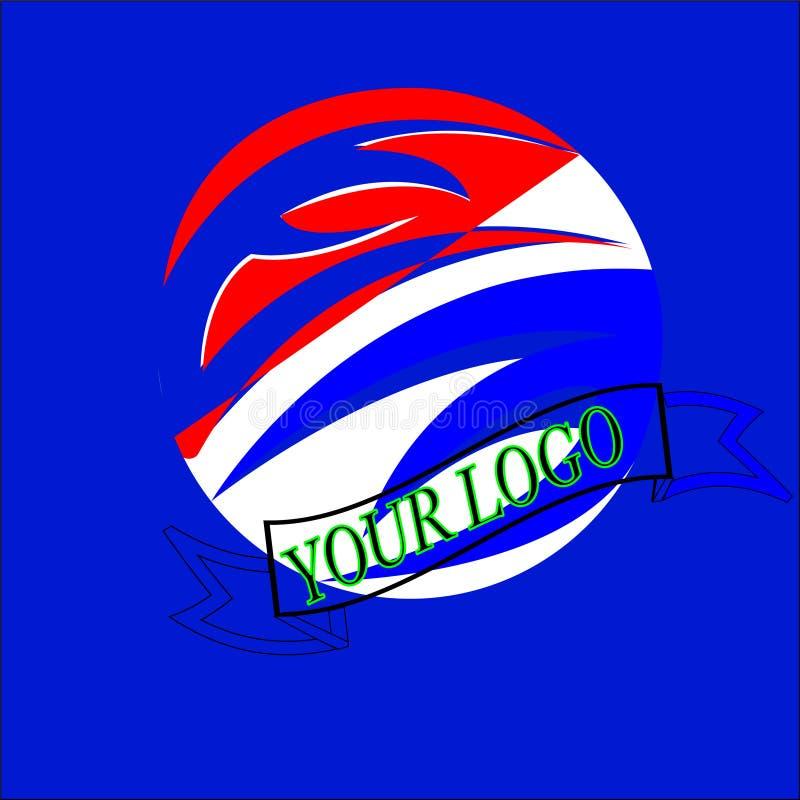 Логотип дизайна современный для дела иллюстрация штока