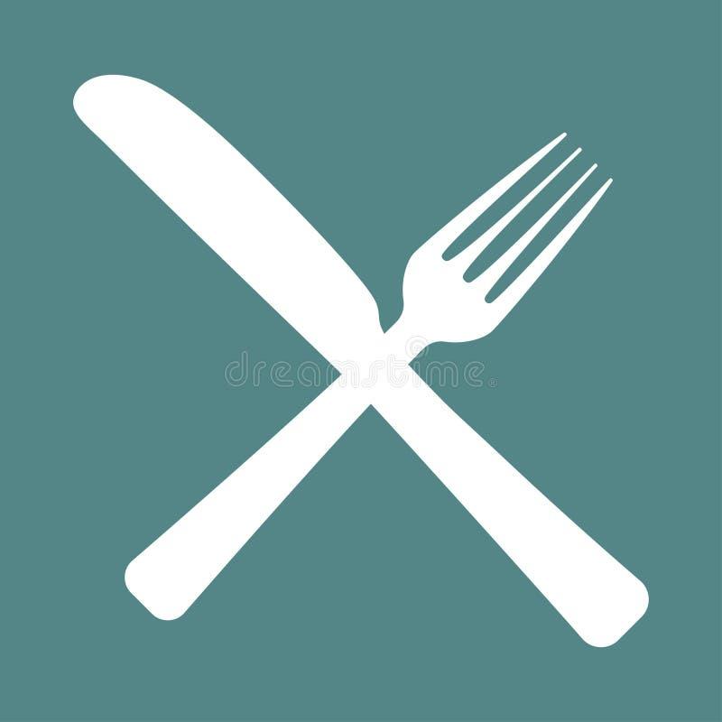 Логотип для кафа с вилкой и ложкой бесплатная иллюстрация
