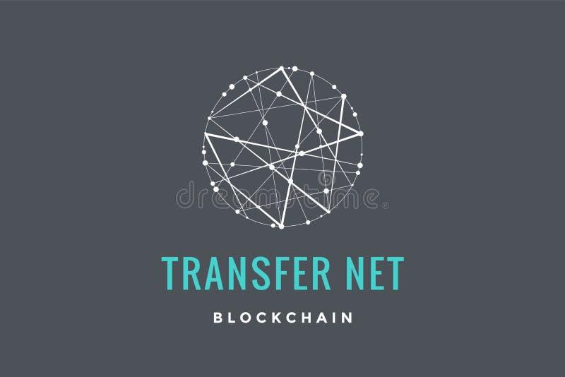 Логотип для технологии blockchain иллюстрация штока