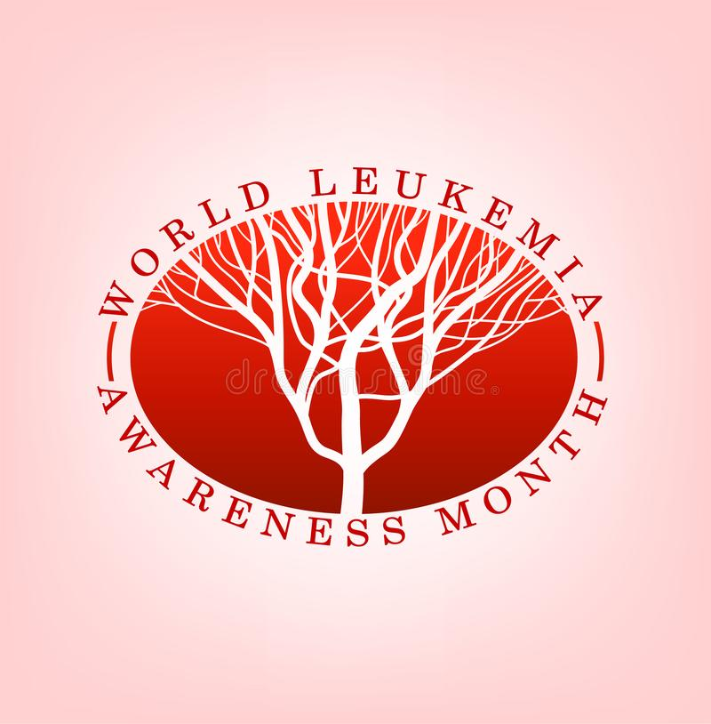 Логотип дня лейкова иллюстрация вектора