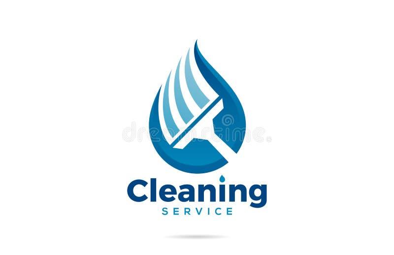 Логотип домашнего офиса уборки иллюстрация штока