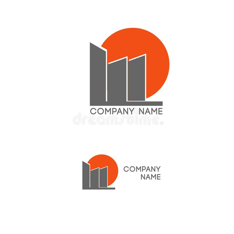 Логотип дома недвижимости иллюстрация вектора