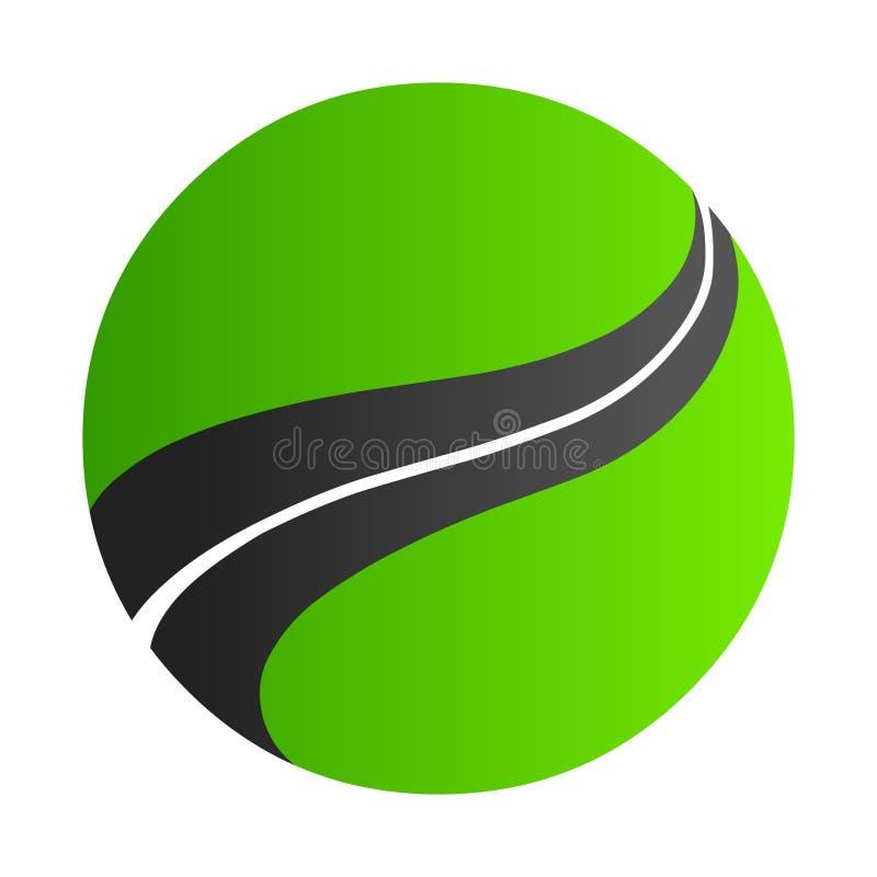 Логотип дороги Абстрактная иллюстрация вектора логотипа круга иллюстрация штока