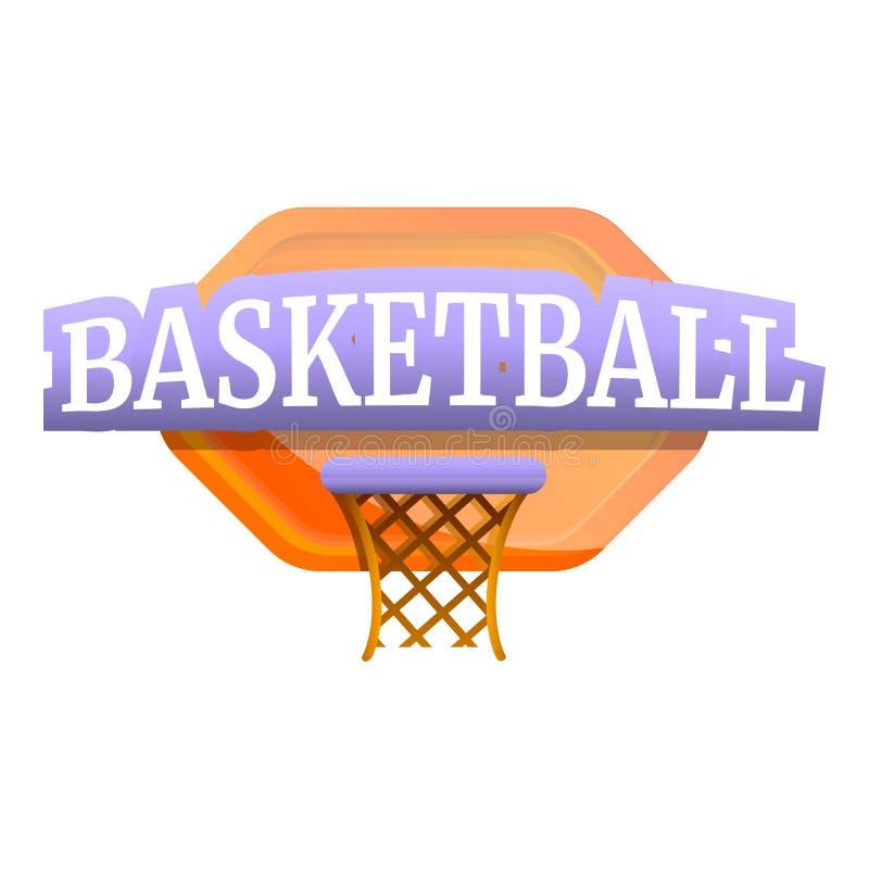 Логотип доски баскетбола, стиль мультфильма бесплатная иллюстрация