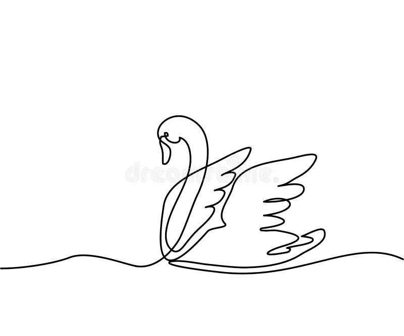 Логотип лебедя иллюстрация штока