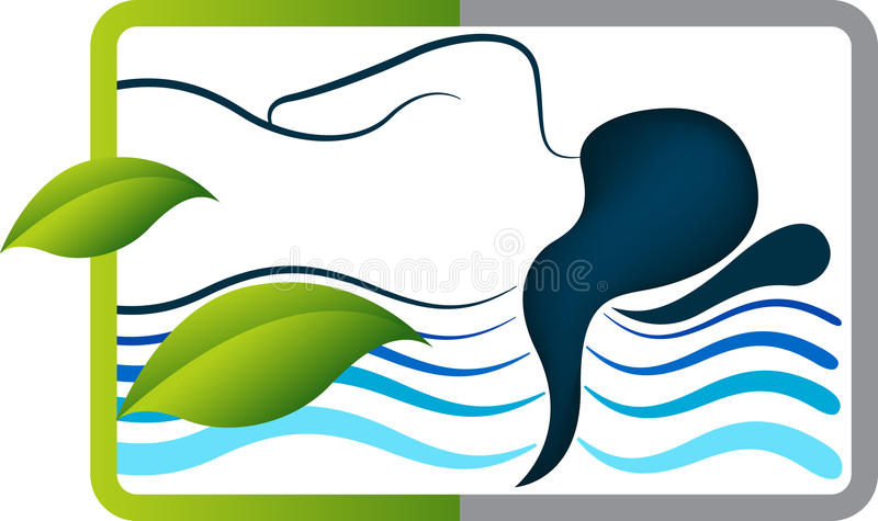 Логотип девушки спать иллюстрация вектора