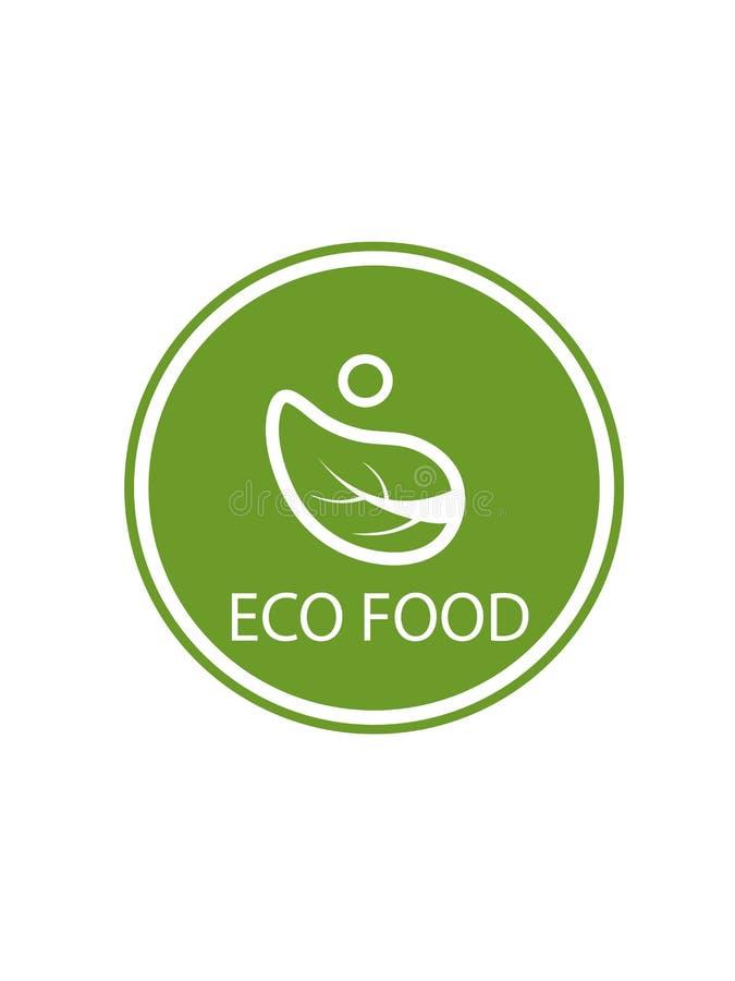 Логотип еды Eco на белой предпосылке стоковые изображения rf