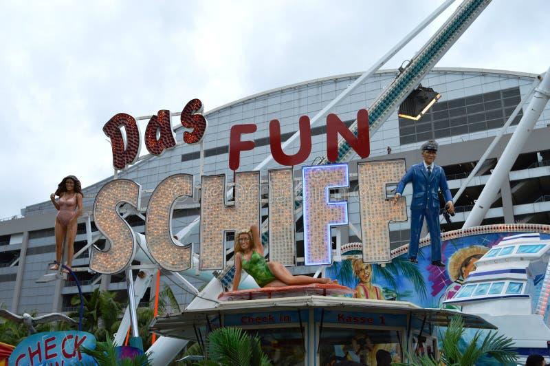 Логотип езды Schiff потехи Das стоковое фото