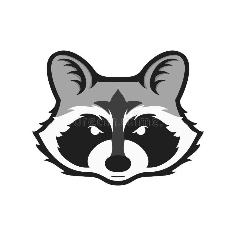Логотип енотов головной для спортивного клуба или команды Животный логотип талисмана шаблон также вектор иллюстрации притяжки cor иллюстрация штока